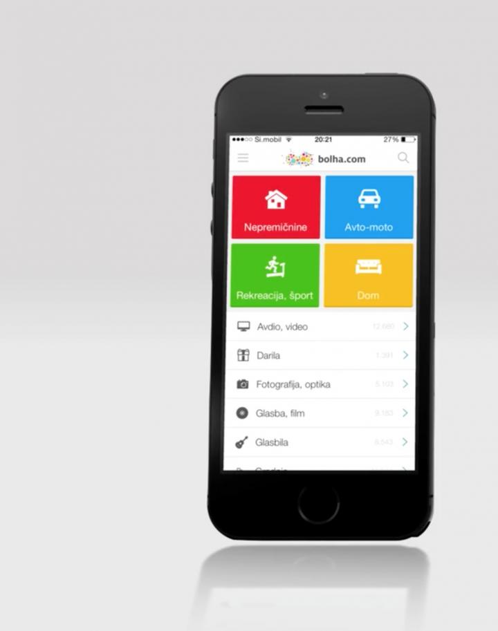 Bolha.com – Dom za vsakogar (mobilna aplikacija)